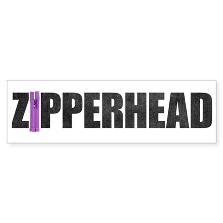 Zipperhead Bumper Sticker