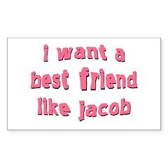 Best Friend Jacob Rectangle Stickers 50 pk