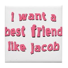 Best Friend Jacob Tile Coaster