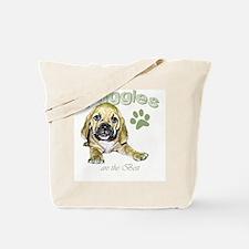 The Best Puggle Design Tote Bag