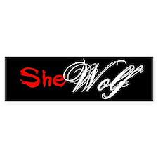 She Wolf Bumper Car Sticker