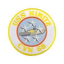 """USS NIMITZ 3.5"""" Button (100 pack)"""