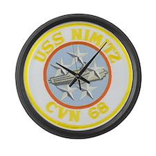 USS NIMITZ Large Wall Clock