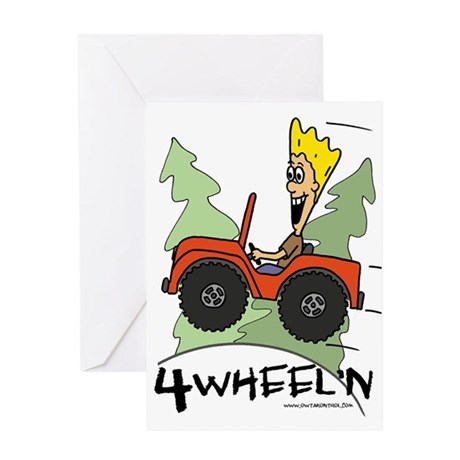 Fidget Four Wheeling Greeting Card