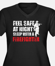 Sleep With A Firefighter T Shirt Plus Size T-Shirt