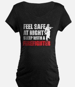 Sleep With A Firefighter T Shirt Maternity T-Shirt