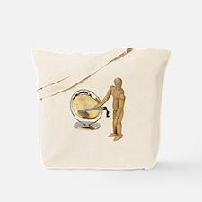 Striking a gong Tote Bag