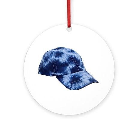 Tie dye hat Ornament (Round)