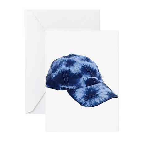 Tie dye hat Greeting Cards (Pk of 10)