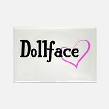 Dollface Rectangle Magnet (10 pack)