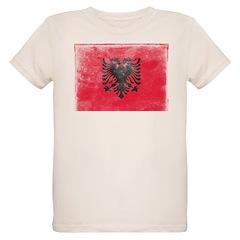 Vintage Albania Flag Organic Kids T-Shirt
