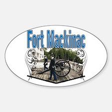 FORT MACKINAC08 Oval Decal
