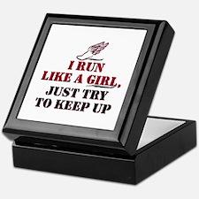 Run like a girl red Keepsake Box