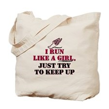 Run like a girl red Tote Bag
