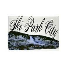 Ski Park City Rectangle Magnet