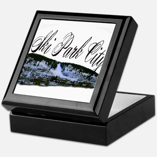 Ski Park City Keepsake Box