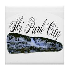 Ski Park City Tile Coaster