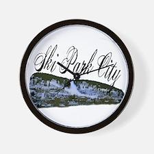 Ski Park City Wall Clock