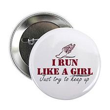 """Run like a girl scr 2.25"""" Button"""