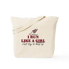 Run like a girl scr Tote Bag
