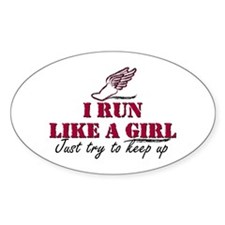Run like a girl scr Decal
