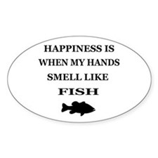 HAPPINESS IS WHEN... Oval Decal