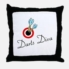 Darts Diva Throw Pillow