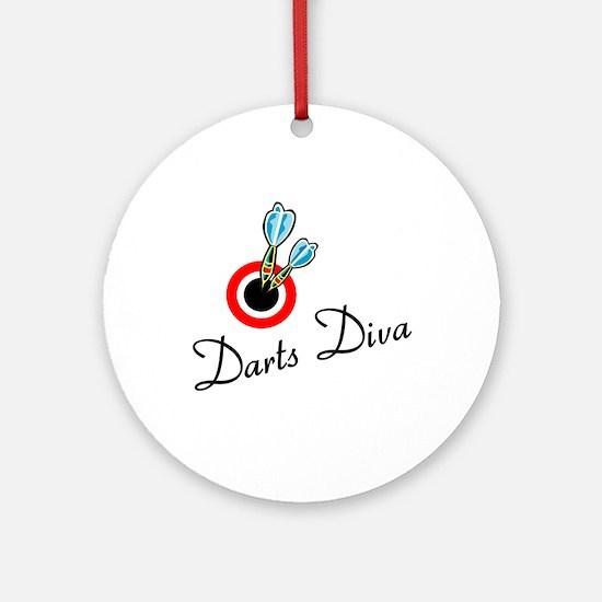 Darts Diva Ornament (Round)