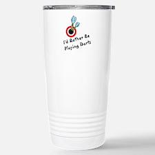 Playing Darts Travel Mug