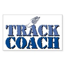 Track Coach wf Rectangle Decal