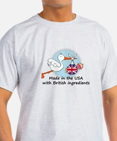 Stork Baby UK USA T-Shirt