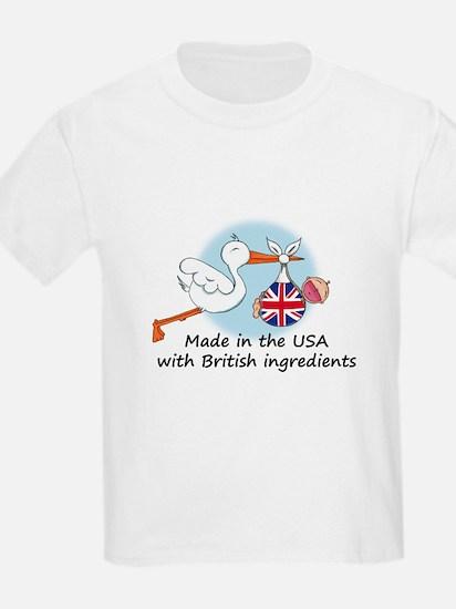 Stork Baby UK USA T-Shirt