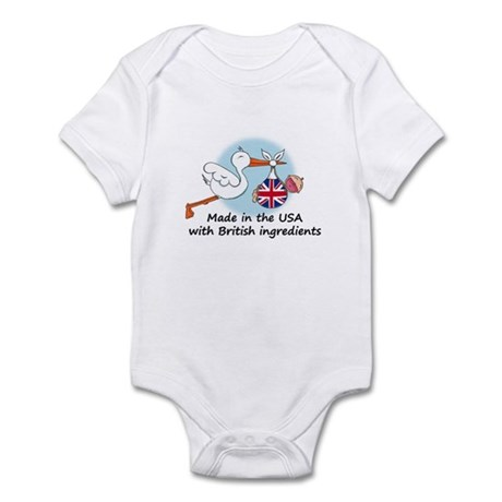 Stork Baby UK USA Infant Bodysuit