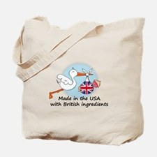 Stork Baby UK USA Tote Bag