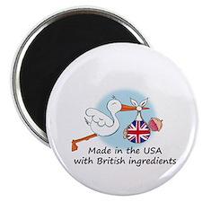 Stork Baby UK USA Magnet