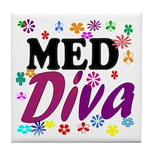 Med Diva Tile Coaster