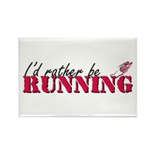 Rather be running Rectangle Magnet