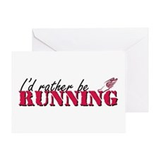 Rather be running Greeting Card