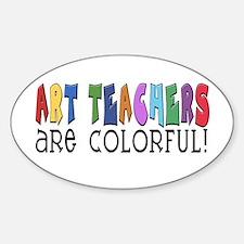 Art Teachers Oval Decal