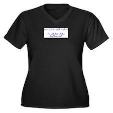 Funny Fish logo Women's Plus Size V-Neck Dark T-Shirt
