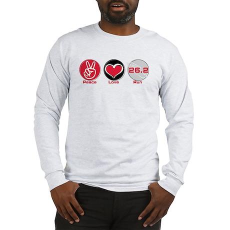 Peace Love Run 26.2 Long Sleeve T-Shirt