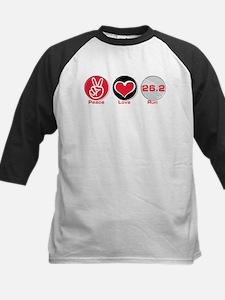 Peace Love Run 26.2 Kids Baseball Jersey