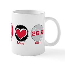 Peace Love Run 26.2 Mug
