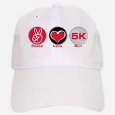 Peace Love Run 5K Baseball Baseball Cap