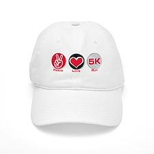 Peace Love Run 5K Baseball Cap