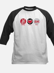 Peace Love Run 5K Kids Baseball Jersey