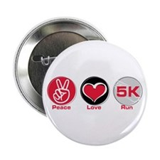 "Peace Love Run 5K 2.25"" Button"