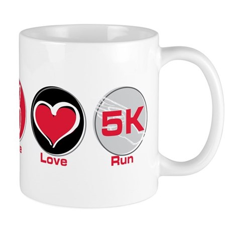 Peace Love Run 5K Mug
