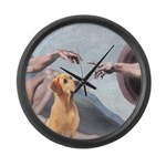 Creation/Labrador (Y) Large Wall Clock