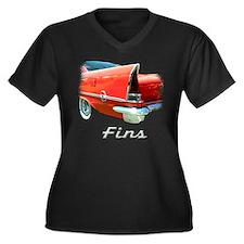 57 Chrysler 300 Women's Plus Size V-Neck Dark T-Sh